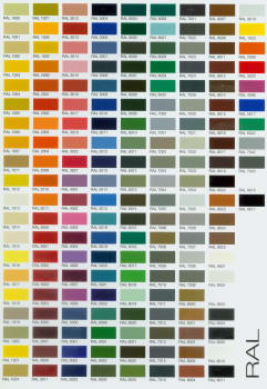 BlueStar RALHOOD30364248 - RAL Color Chart