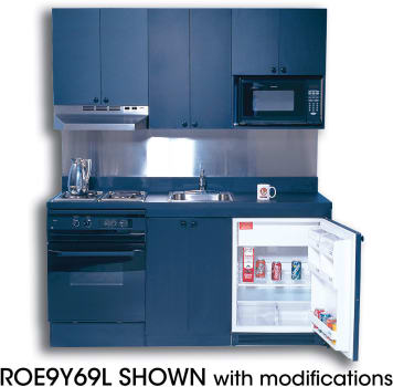 Acme Full Feature Kitchenettes ROE9Y69L - 69 Inches with Options