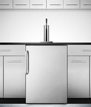 Summit SBC490BISSTB - Stainless Steel with Curved Towel Bar Handle