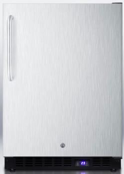 Summit SCFF51OSCSS - Stainless Steel Door and Cabinet with Towel Bar Handle and Door Lock