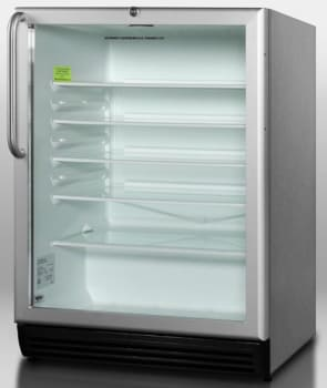 Summit SCR600BLCSS - Stainless Steel Cabinet