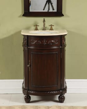 Empire Industries Sienna Collection SI24D - Dark Cherry with Cream Marble Top