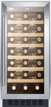 "Summit SWC1535B - 15"" Undercounter Wine Cellar with 33-Bottle Capacity"
