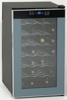 Avanti SWC2801 - Black Cabinet with Platinum Trim Glass Door