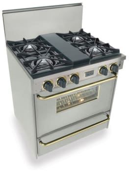 FiveStar TTN2607 - Stainless Steel with Brass Trim