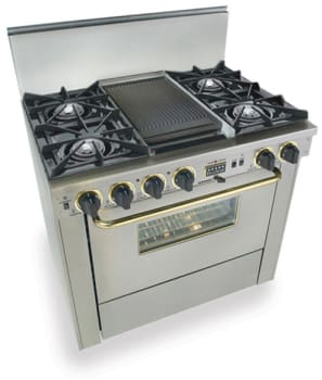 FiveStar TTN3257 - Stainless Steel with Brass Trim