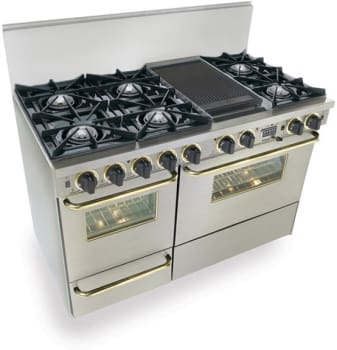 FiveStar TTN5257BSW - Stainless Steel with Brass Trim