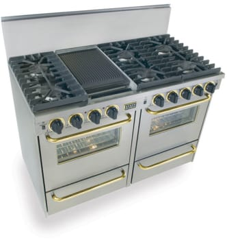 FiveStar TTN5317BSW - Stainless Steel with Brass Trim