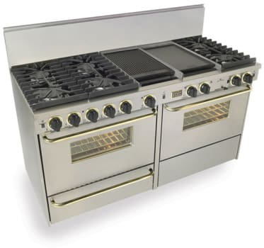 FiveStar TTN6377BSW - Stainless Steel with Brass Trim