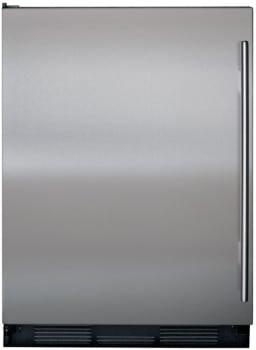 Sub-Zero UC24CIRH - Shown with optional Classic Stainless Steel with Tubular Handle