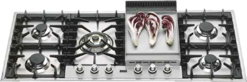 "Ilve UHP125FC - 48"" Built-In Gas Cooktop"