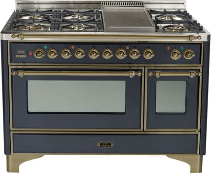Ilve Um120fmpmy 48 Inch Traditional Style Dual Fuel Range