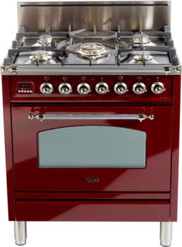 Ilve Nostalgie Collection UPN76DVGGRB - Burgundy