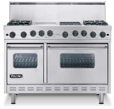 Viking Professional Series VDSC4856GSS - Featured View with Optional Backguard