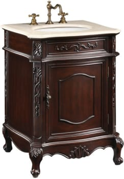 Empire Industries Verona Collection VE24DC - Dark Cherry with Cream Marble Top