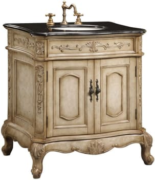 Empire Industries Verona Collection VE30AW - Antique White with Absolute Black Granite Top