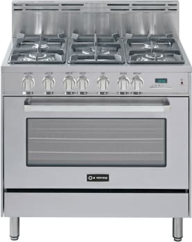 Verona VEFSGE365SS - Stainless Steel with 8 Inch Backguard