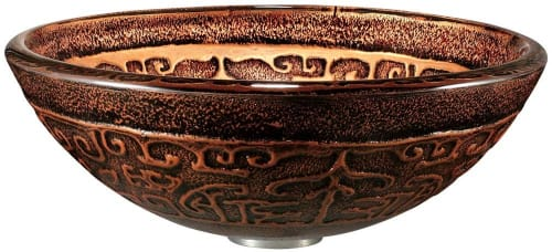 Vigo Industries VG07019 - Copper Mosaic Glass Vessel Sink