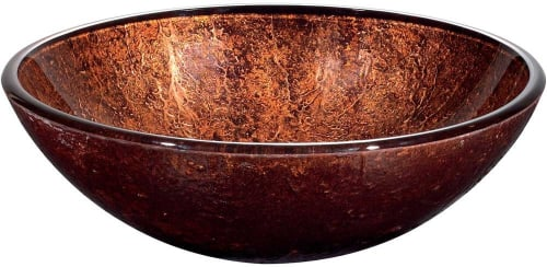 Vigo Industries VG07028 - Mahogany Moon Glass Vessel Sink