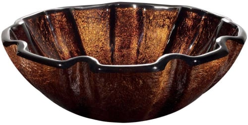 Vigo Industries VG07038 - Walnut Shell Glass Vessel Sink