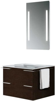 Vigo Industries VG09003104K - Wenge Finish with Mirror and Lighting System