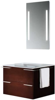 Vigo Industries VG09003106K - Red Oak Finish with Mirror and Lighting System