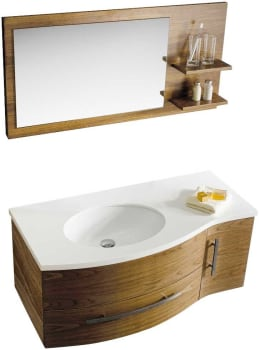 Vigo Industries VG09005108LHK - Black Walnut Finish with Mirror