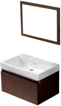 Vigo Industries VG09018118KX - Wenge Finish with Mirror