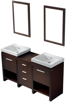 Vigo Industries VG09027118KX - Wenge Finish with 2 Mirrors