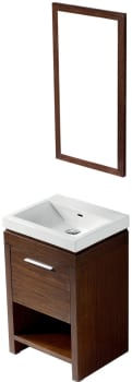 Vigo Industries VG09027118LHK - Wenge Finish with Mirror