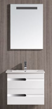 Vigo Industries VG09030001K - White Gloss Finish with Mirror and Light System