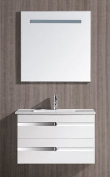 Vigo Industries VG09031001K - White Gloss Finish with Mirror and Light System