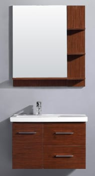 Vigo Industries VG09033118K - Wenge Finish with Mirror