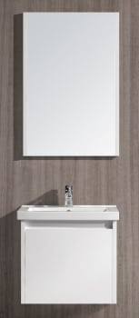 Vigo Industries VG09034001KX - White Gloss Finish with Mirror