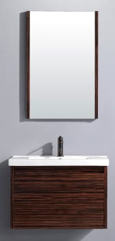 Vigo Industries VG09035109K - Ebony Finish with Mirror