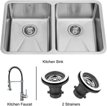 Vigo Industries Premium Collection VG14003 - Undermount Stainless Steel Kitchen Sink