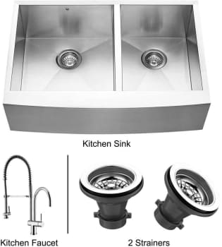 Vigo Industries Premium Collection VG14019 - Stainless Steel Farmhouse Kitchen Sink