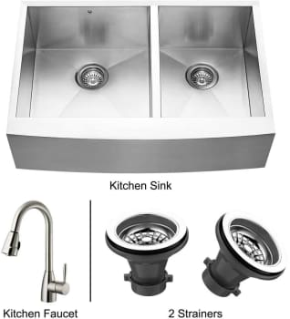 Vigo Industries Premium Collection VG14020 - Stainless Steel Farmhouse Kitchen Sink