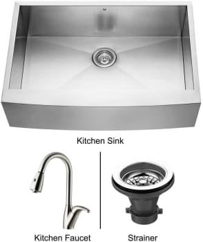 Vigo Industries Premium Collection VG14021 - Stainless Steel Farmhouse Kitchen Sink