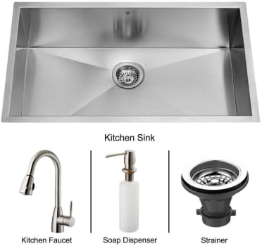 Vigo Industries Platinum Collection VG15016 - Undermount Stainless Steel Kitchen Sink