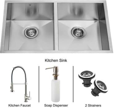 Vigo Industries Platinum Collection VG15017 - Undermount Stainless Steel Kitchen Sink