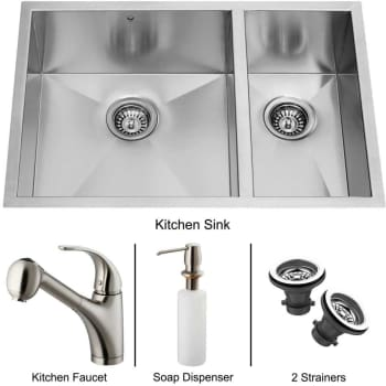 Vigo Industries Platinum Collection VG15025 - Undermount Stainless Steel Kitchen Sink