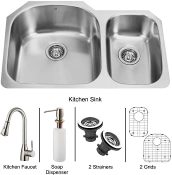 Vigo Industries Platinum Collection VG15045 - Undermount Stainless Steel Kitchen Sink