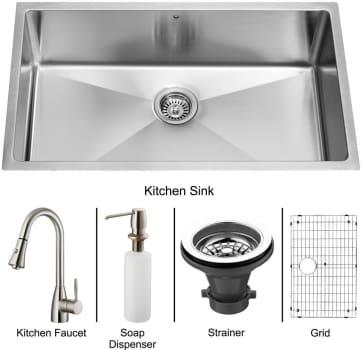 Vigo Industries Platinum Collection VG15049 - Undermount Stainless Steel Kitchen Sink