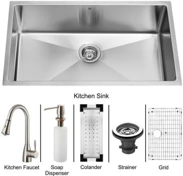 Vigo Industries Platinum Collection VG15050 - Undermount Stainless Steel Kitchen Sink