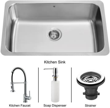 Vigo Industries Platinum Collection VG15056 - Undermount Stainless Steel Kitchen Sink
