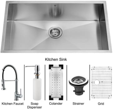Vigo Industries Platinum Collection VG15062 - Undermount Stainless Steel Kitchen Sink