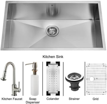 Vigo Industries Platinum Collection VG15070 - Undermount Stainless Steel Kitchen Sink
