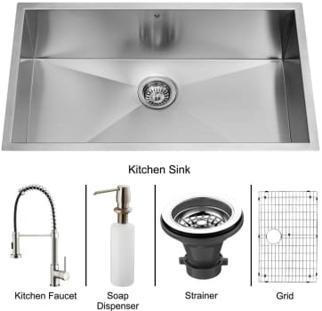 Vigo Industries Platinum Collection VG15076 - Undermount Stainless Steel Kitchen Sink