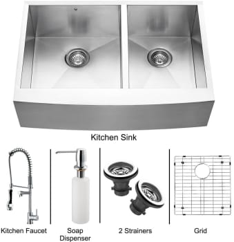 Vigo Industries Platinum Collection VG15090 - Stainless Steel Farmhouse Kitchen Sink